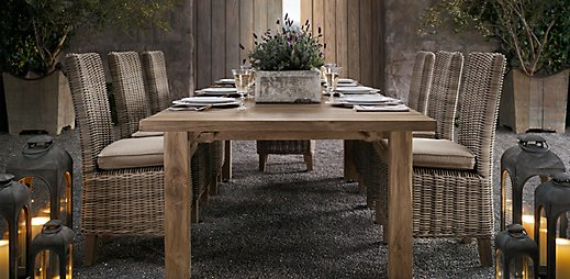 Outdoor dining ideas 346 living for Restoration hardware outdoor dining