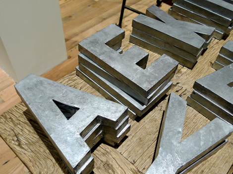 galvanized metal letters anthropologie letter 346 living 19022