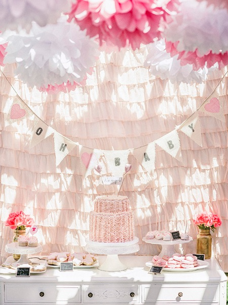 Pink gold baby shower 3